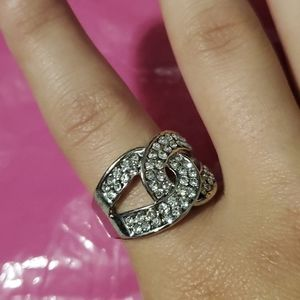 Diamond studded ring